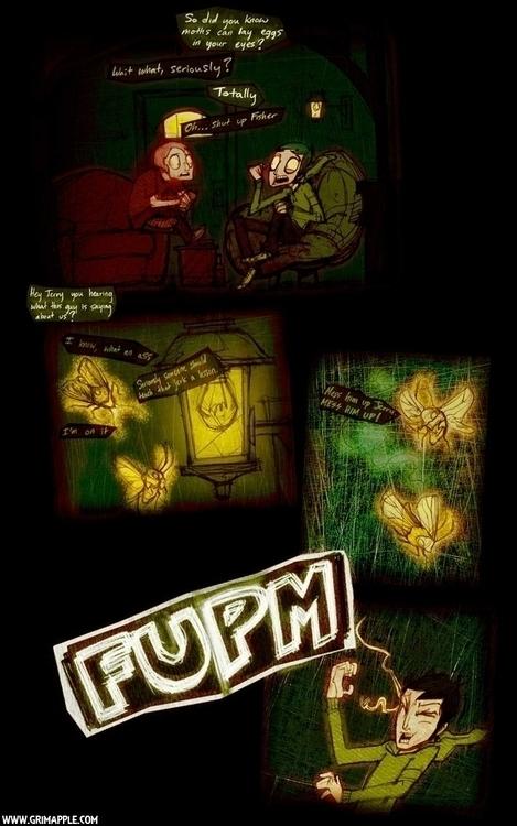 Moth Flame: Moths sense humor - moth - grimapple | ello