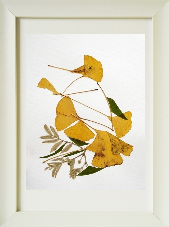 Pressed flowers bird - illustration - floralcollage | ello