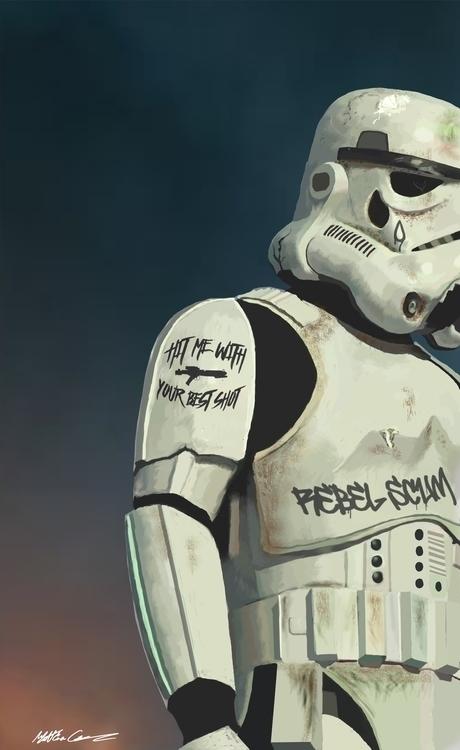 Storm Trooper Digital Painting - mattgrazier | ello