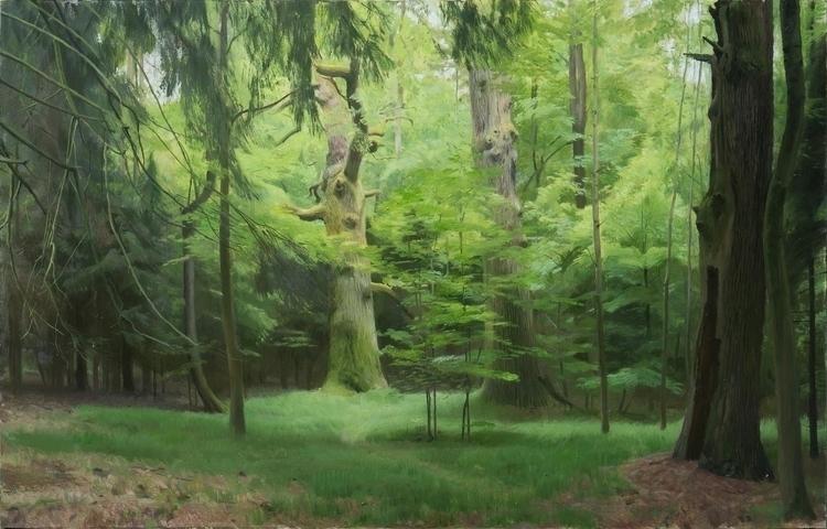 oil board, 61 95 cm - painting, landscape - zdendan | ello