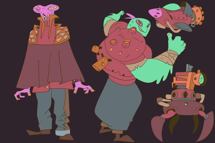 alien, cartoon, character, design - brokemypencil | ello