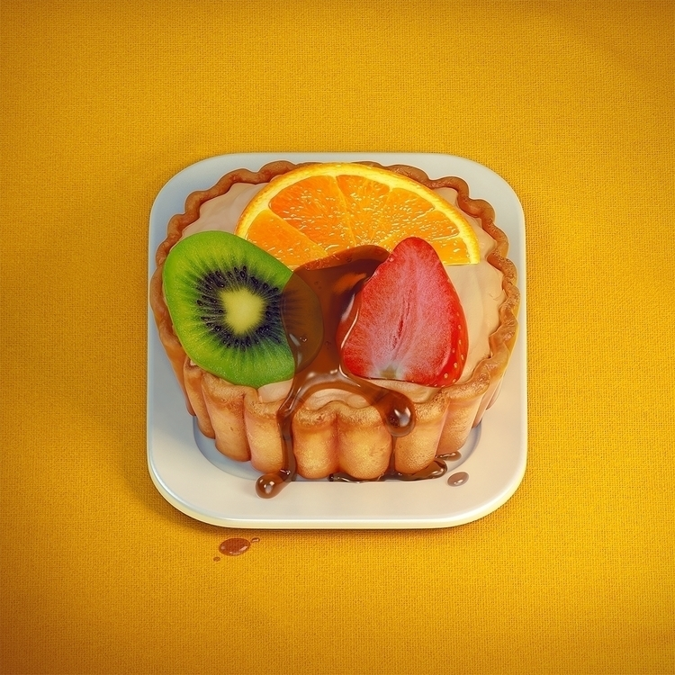 Fruit tart - 3D icon Thunder Cl - thundercloudstudio | ello