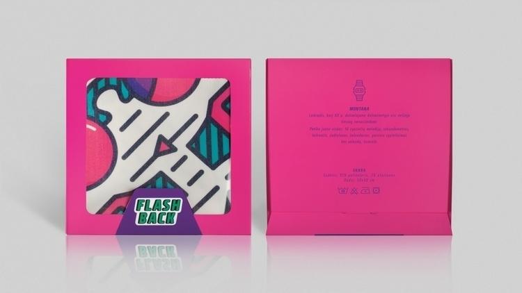 2nd scarf packaging design - pink - laurita_potapova | ello