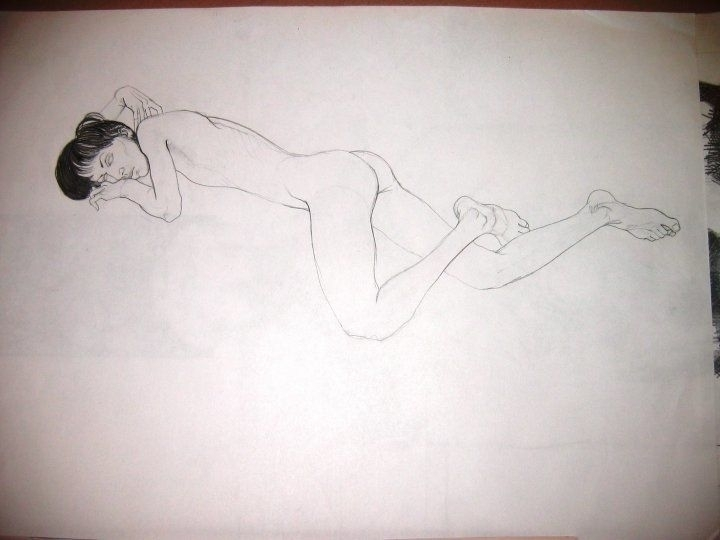 Akt. Pencil paper - drawing - tomasch516 | ello