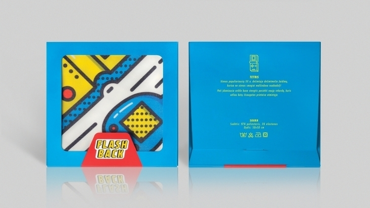 1st scarf packaging design - blue - laurita_potapova | ello