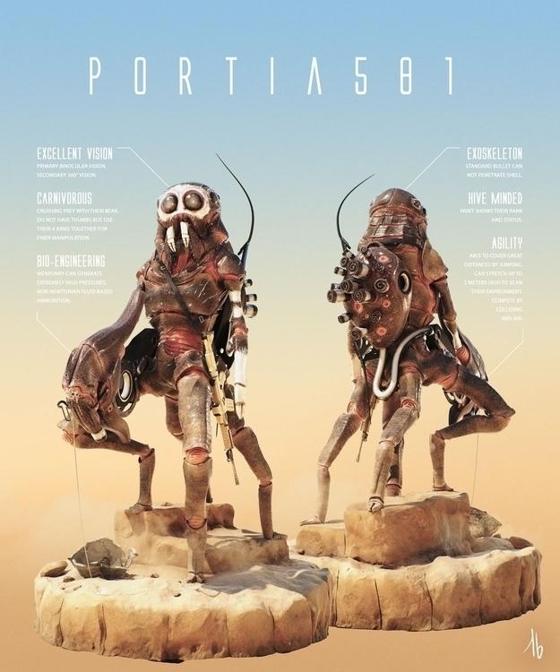 Portia 581 - portia, spider, alien - tbkoen | ello