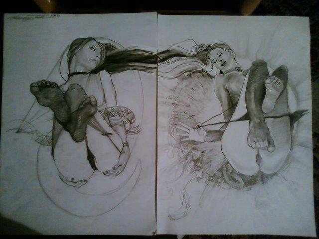 Sol Luna, Erotic epic. Pencil p - tomasch516 | ello