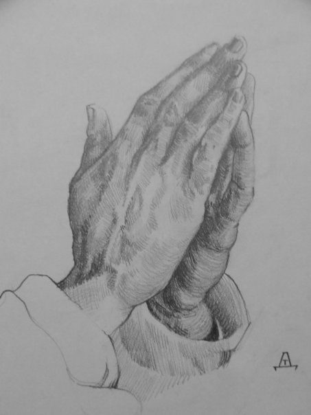 Reproduction Praying hands. Pen - tomasch516 | ello