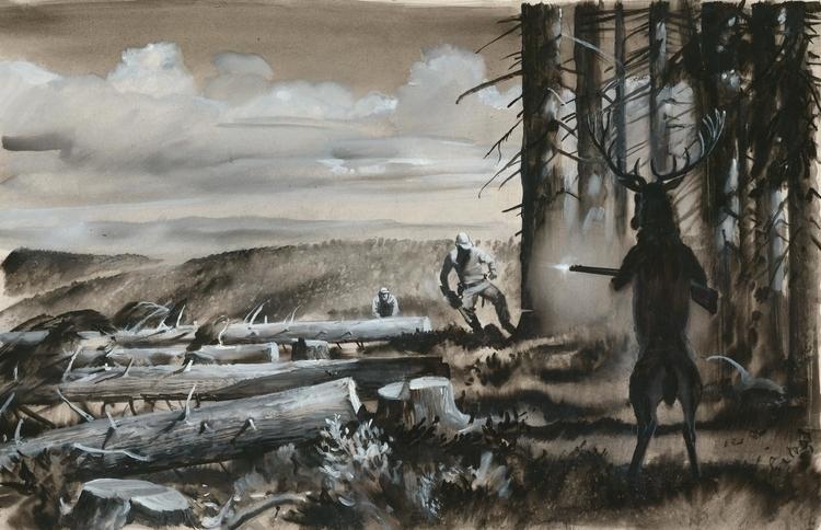 quache paper - painting, illustration - zdendan   ello