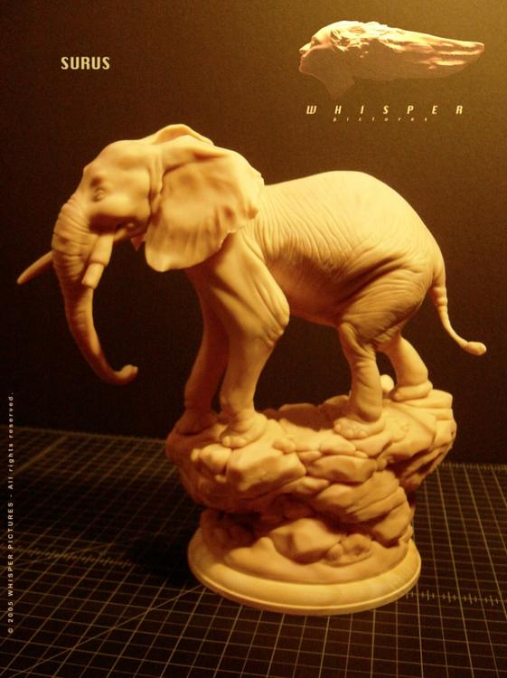 Surus - Tusk Sculpt - moviedesign - theblackfrog | ello