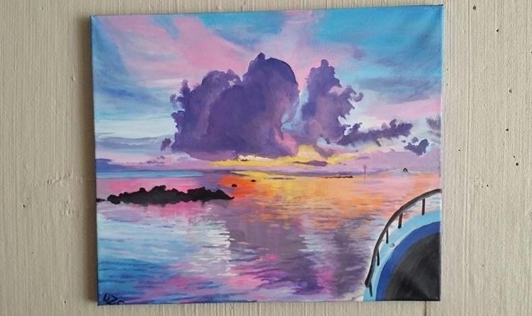 florida - painting, acrylicpaint - lizzywhothefunkc | ello