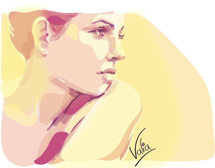 shining woman - illustration, painting - valiaart | ello