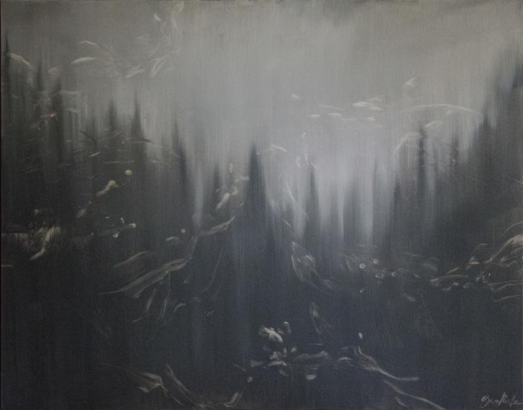 Gray Mood Oil Canvas, 2014 - forest - siberian_sweaters | ello