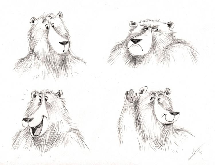 Character sketch Bear - illustration - kellybreemer | ello