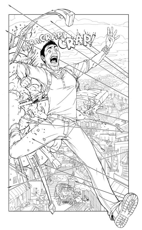 Nathan Drake - crap, explosion, action - catnipandcocoa | ello