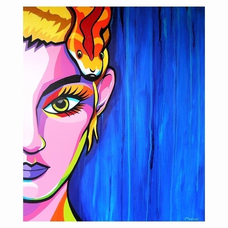SnakeGirl - painting - marcelburger | ello