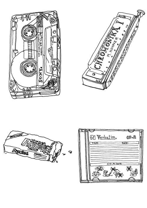 cassette chewing gum - illustration - stephanemercier | ello