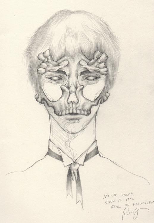 real Halloween - illustration, drawing - juichenhu | ello