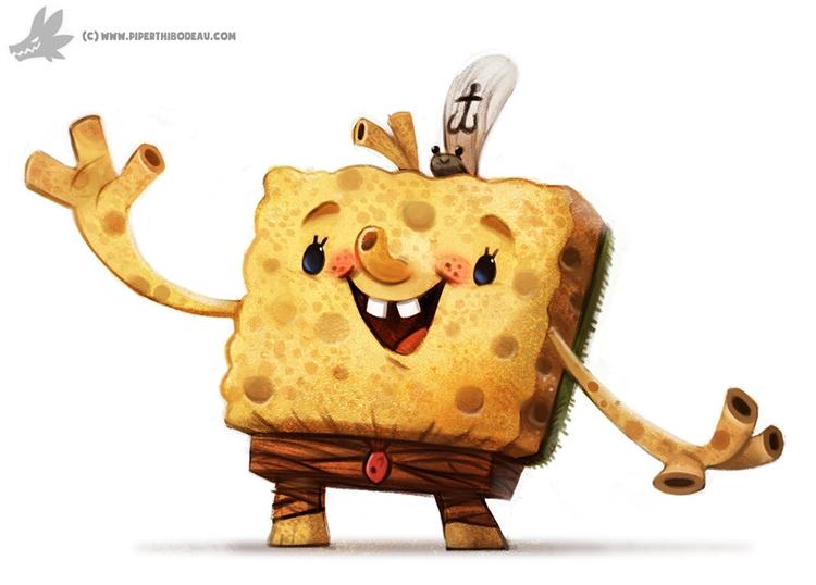 Daily Painting 893# SpongeBob R - piperthibodeau | ello
