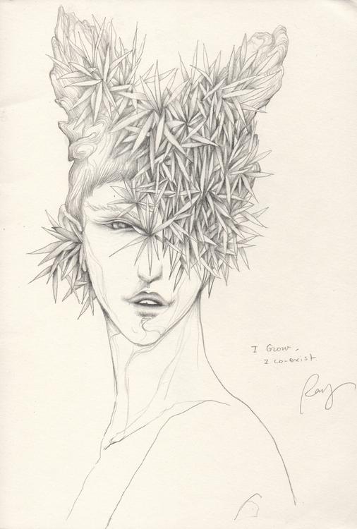 grow co-exist - drawing, illustration - juichenhu   ello