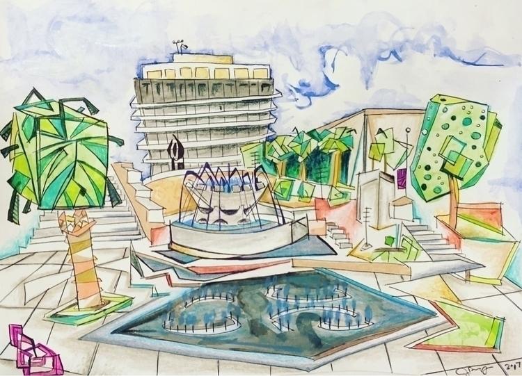 sketch,, LosAngeles,, grandpark, - joeyderuy | ello