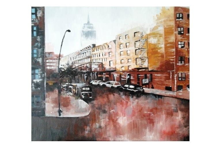 painting 7 - city, oilpainting, brooklyn - juliettemary | ello