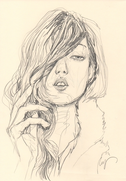 Lindsey Wixson - illustration, sketchbook - juichenhu | ello