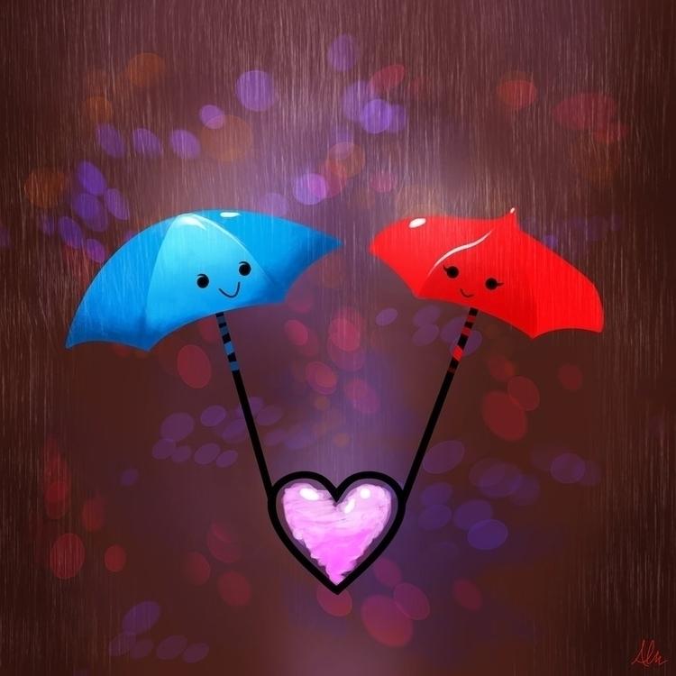 Valentine Umbrellas - alfredmanzano - alfredmanzanoart | ello