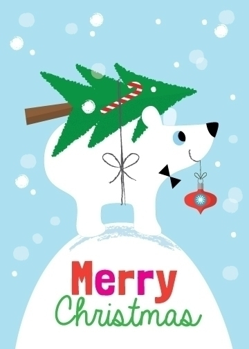 Merry Christmas | Polar Bear - illustration - amycartwright | ello