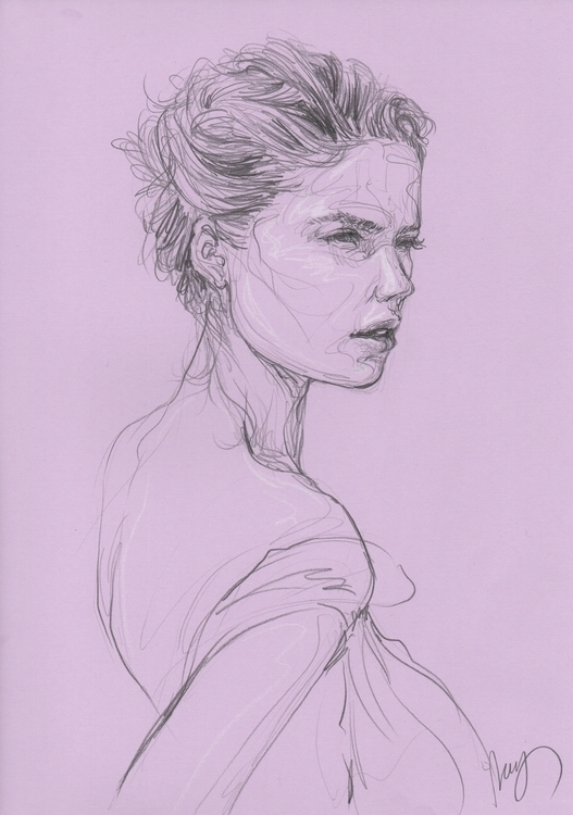 Doutzen Kroes - illustration, drawing - juichenhu | ello