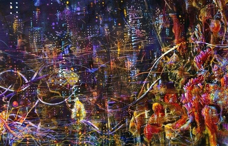 tourmaline - painting, drawing, acrylic - erik_shutov | ello