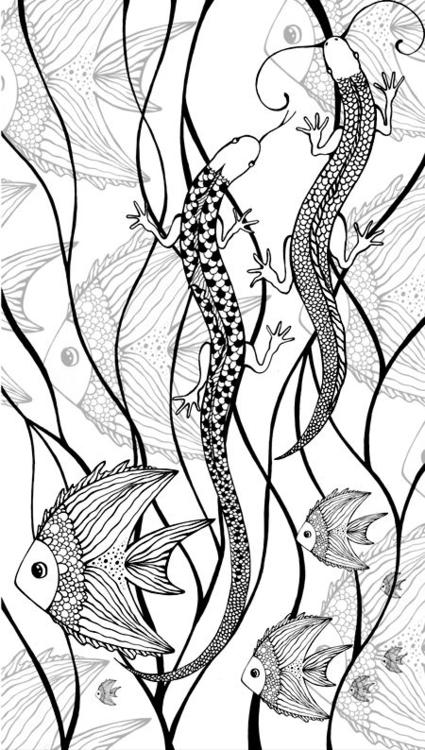 Sea - sea, fish, lizard, collageart - depesha2   ello