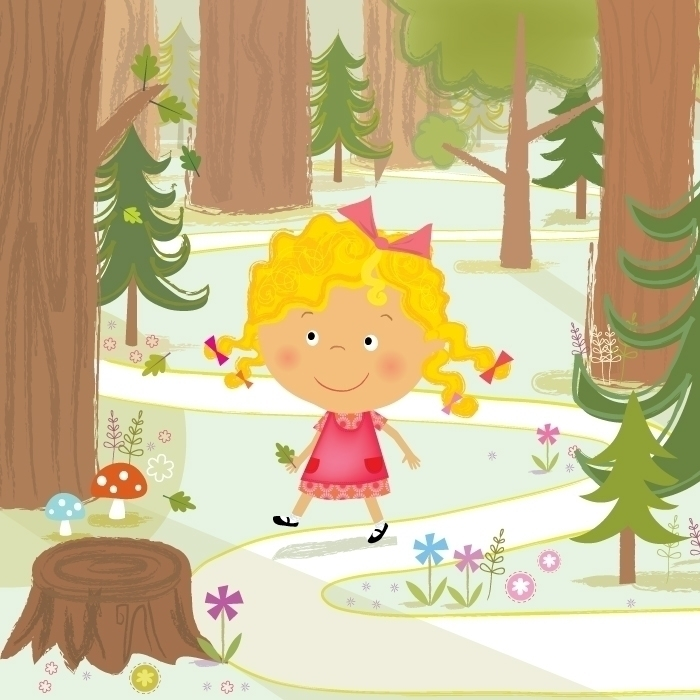 Goldilocks - illustration, goldilocks - amycartwright | ello