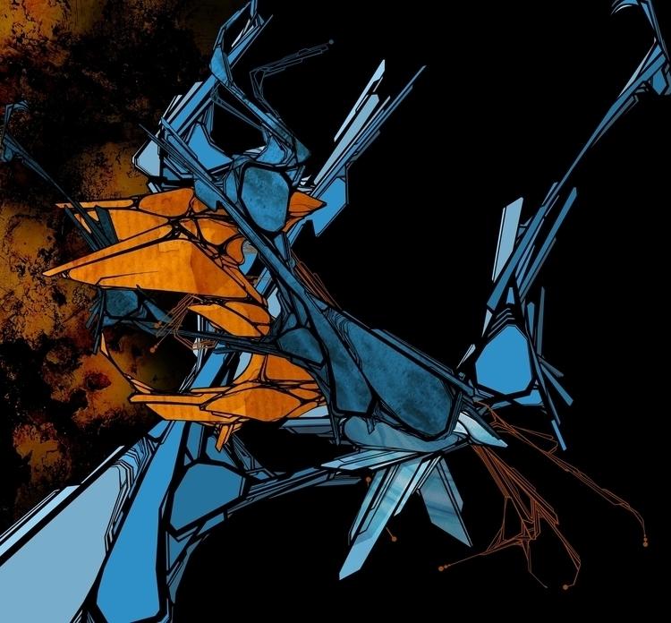 art, bird, blue, digitalart, drawing - m4rinema | ello