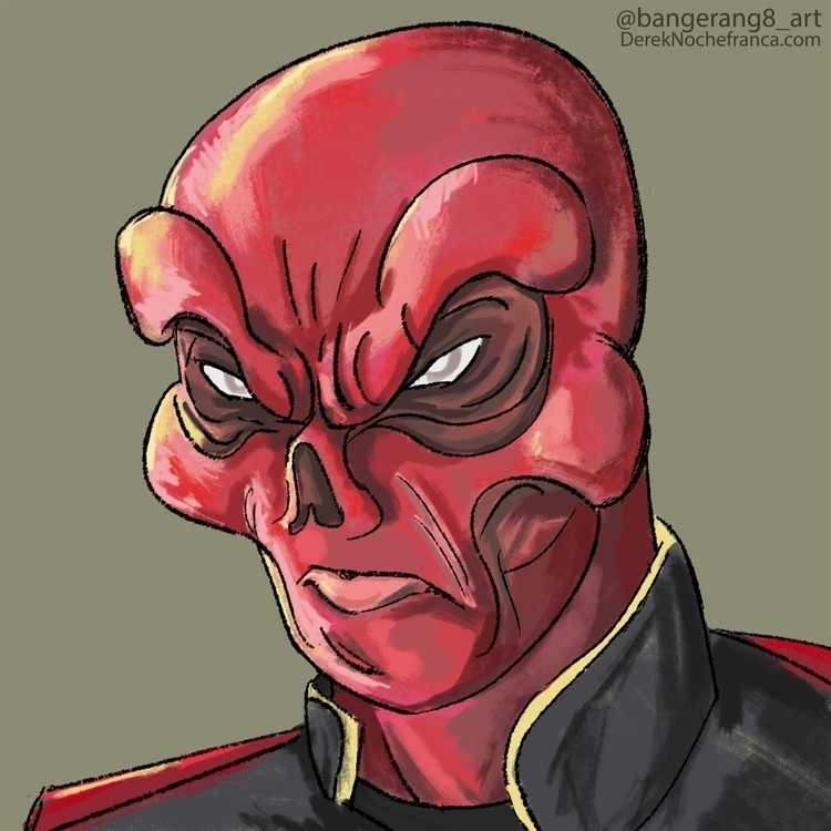 Red Skull 5 digital 2014 - redskull - dereknochefranca | ello