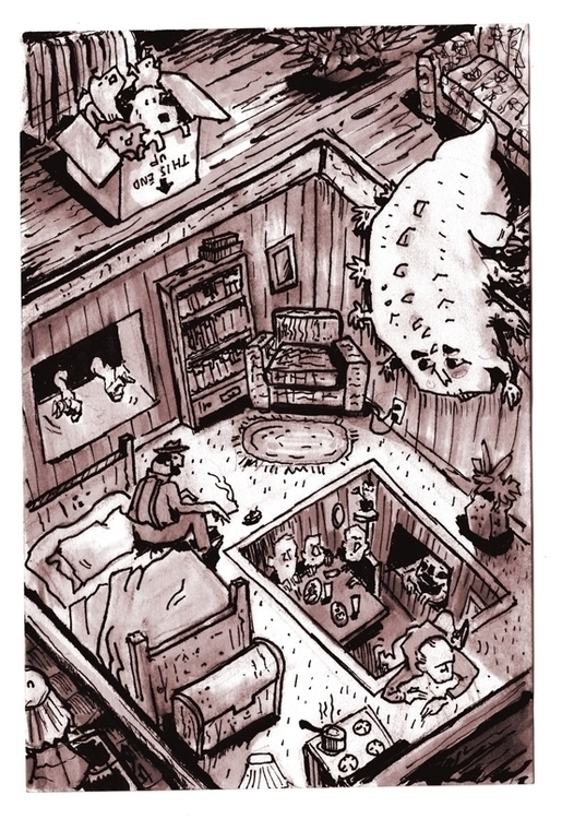 Descending Floors Paradise BB - sketchbook - danmccool | ello