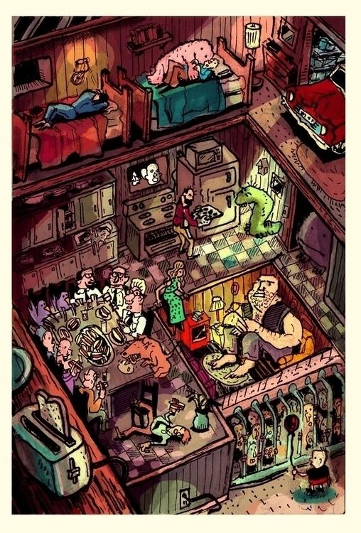 Descending Floors Paradise BB  - danmccool | ello