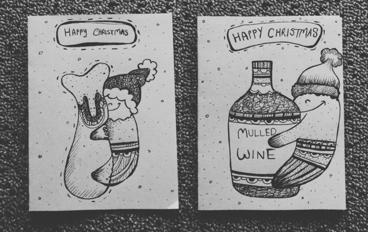 Christmas Cards 2016: love turk - queenlardcake | ello