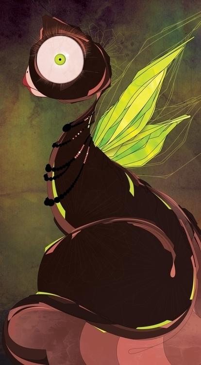 Peacockat - art, illustration, digitalart - m4rinema | ello