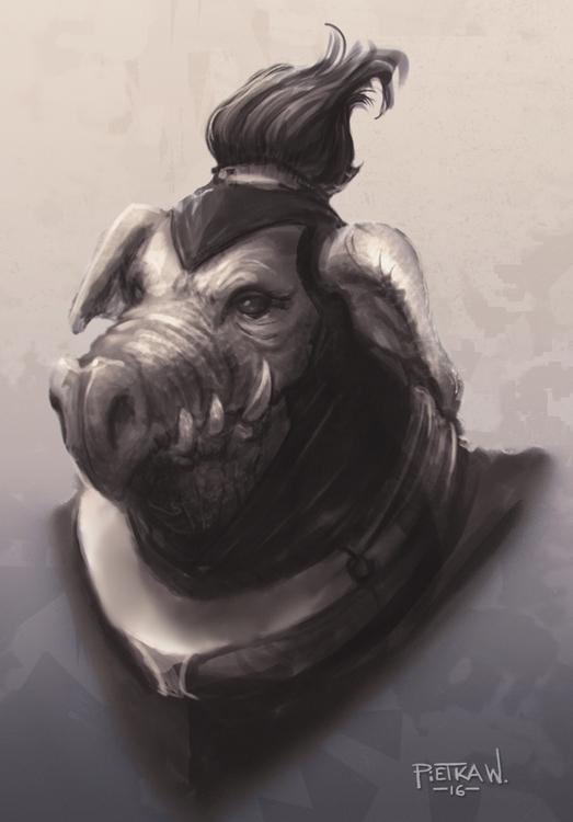 Monster bust - gameart, drawing - pietkaw   ello