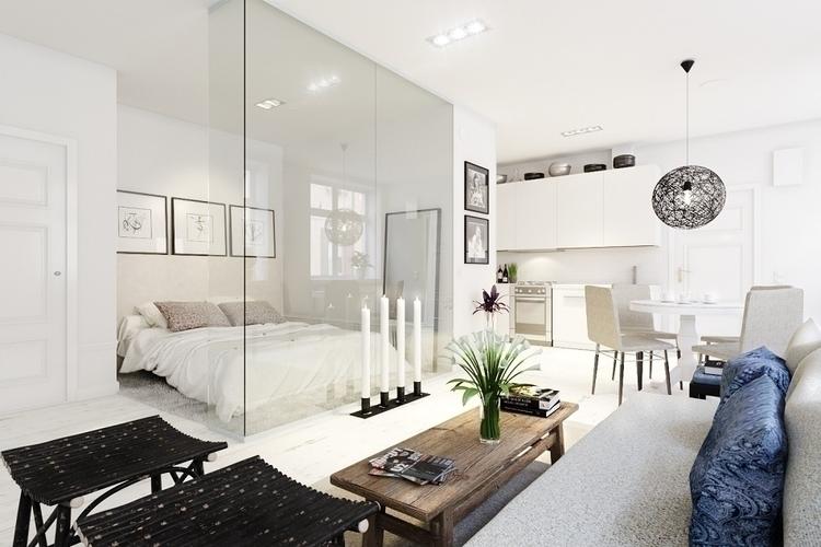 Scandinavian interior - 3d, design - eugenechekhov | ello