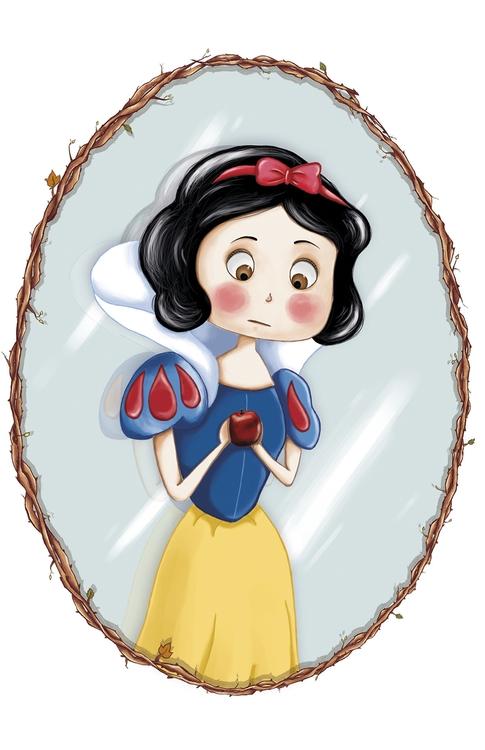 Snow White - illustration, painting - adelemanuti | ello