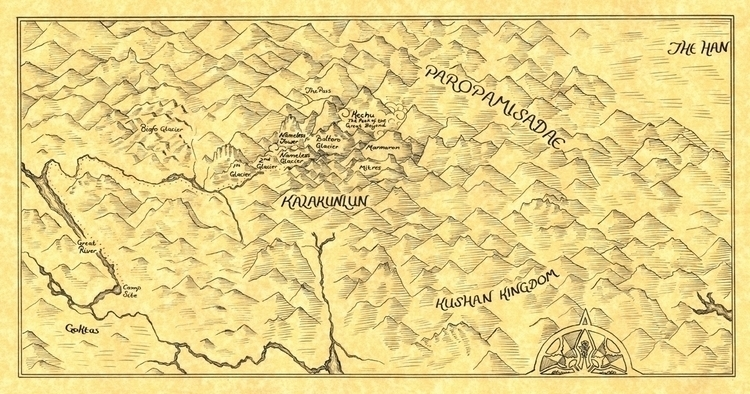 Son Man Map - commissioned map  - abrianc | ello
