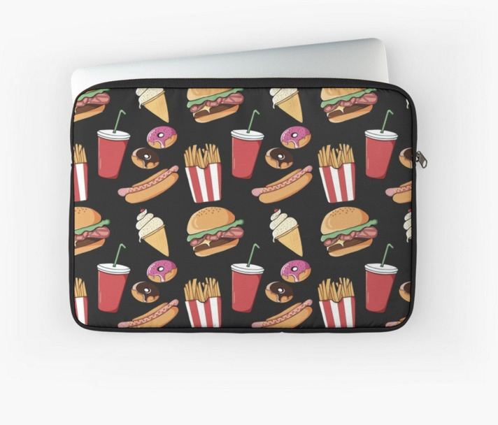 Fast Food Laptop Sleeves - illustration - adelemanuti | ello