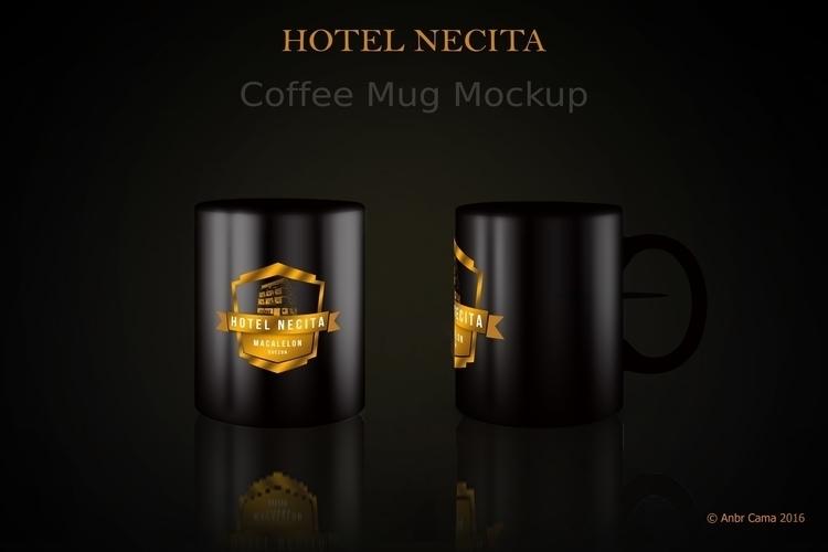 Black Mug Mockup Hotel Necita - design - anbrcama-4553 | ello
