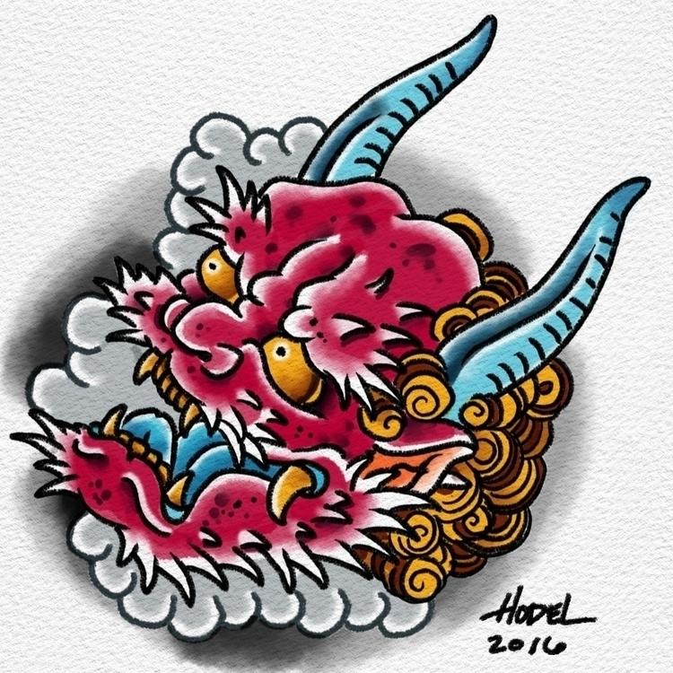 Oni - illustration, watercolor, oni - matthewhodel | ello