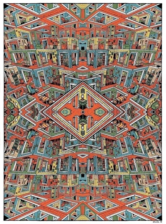Chaos Living Room Mandala - sketchbook - danmccool | ello