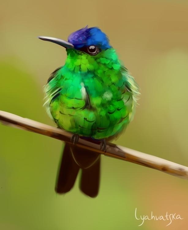 digitalart, art, bird, green - natalialyahvatska | ello