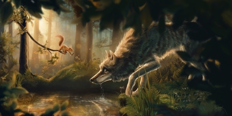 Nut - wolf, squirrel, wolves, nature - companyofwolves | ello