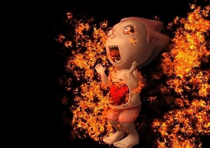 CrazyCrank - fire, character, animation - sunshine-9126 | ello